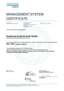 SCC*:2011 Kantwerk Isoliertechnik GmbH Englisch