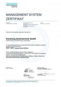 SCC*:2011 Kantwerk Isoliertechnik GmbH